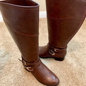 Unisa DSW Brown Riding Boots Wide Calf
